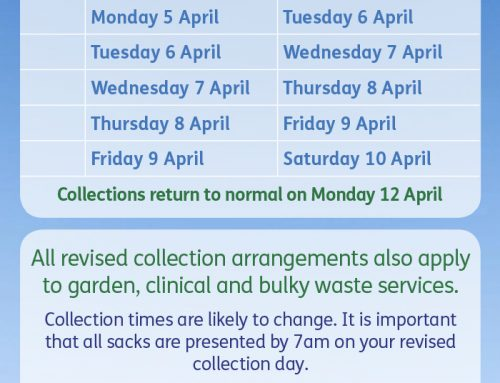 Rubbish collection dates after Easter